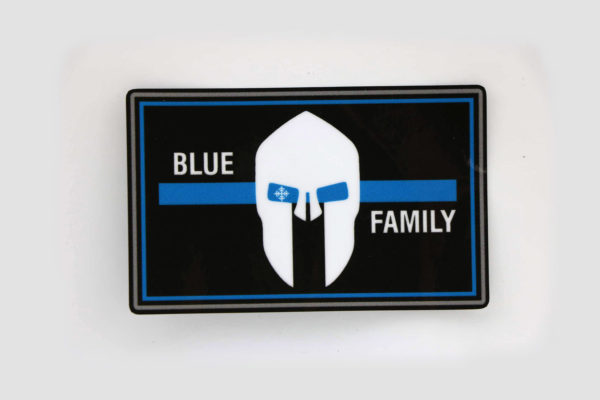Aufkleber BLUE FAMILY thin blue line 600x400 - Aufkleber BLUE FAMILY thin blue line