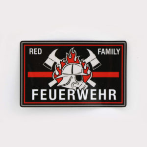Aufkleber FEUERWEHR RED FAMILY thin red line 300x300 - Klettpatch FEUERWEHR RED FAMILY thin red line