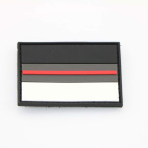Klettpatch DEUTSCHLAND NIGHT CAMO thin red line 300x300 - Klettpatch FEUERWEHR RED FAMILY thin red line