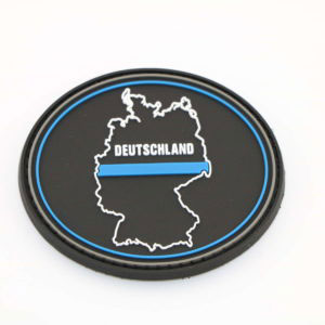 Klettpatch DEUTSCHLAND OVAL thin blue line 300x300 - Klettpatch THIN BLUE LINE Blutgruppe AB neg