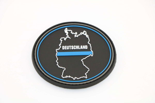 Klettpatch DEUTSCHLAND OVAL thin blue line 600x400 - Klettpatch DEUTSCHLAND OVAL thin blue line