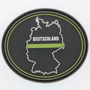 Klettpatch DEUTSCHLAND OVAL thin green line 300x300 - Tasse DEUTSCHLAND OVAL thin green line