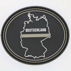 Klettpatch DEUTSCHLAND OVAL thin grey line 300x300 - Klettpatch THIN GREY LINE