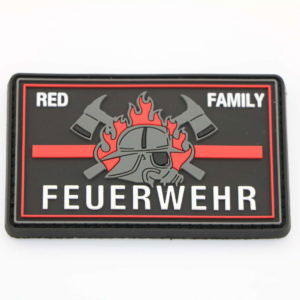 Klettpatch FEUERWEHR RED FAMILY thin red line 300x300 - Aufkleber DEUTSCHLAND OVAL thin red line