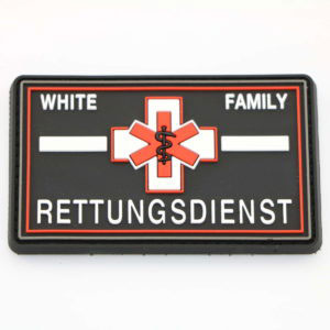 Klettpatch RETTUNGSDIENST WHITE FAMILY thin white line 300x300 - Klettpatch RETTUNGSDIENST WHITE FAMILY thin white line