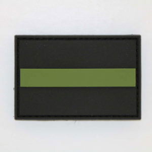 Klettpatch THIN GREEN LINE 300x300 - Basecap + Wunschpatch