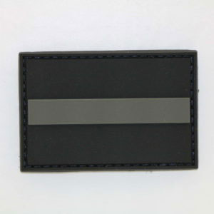 Klettpatch THIN GREY LINE 300x300 - Basecap + Wunschpatch