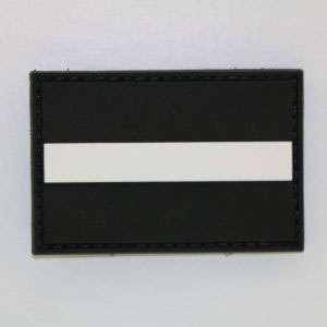 Klettpatch THIN WHITE LINE 300x300 - Klettpatch THIN GREY LINE