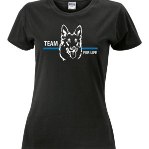 T Shirt Damen HUNDEFUEHRER thin blue line schwarz 300x300 - Klettpatch BLUE FAMILY thin blue line