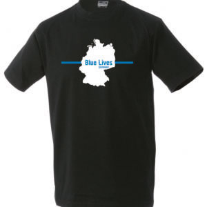 T Shirt Herren DEUTSCHLAND thin blue line schwarz 300x300 - T-Shirt Herren SPARTANER thin blue line