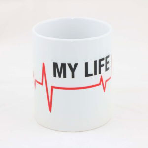 Tasse MY LIFE thin red line 300x300 - Set ARMBAND & SCHLÜSSELANHÄNGER thin red line