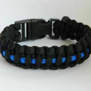 armand paracord thin blue line.jpw  300x300 - Armband PARACORD thin blue line