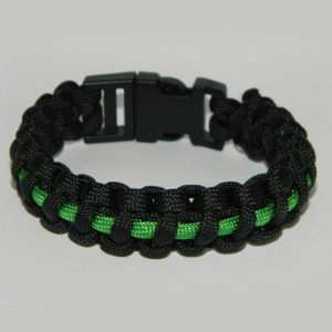 paracord armband thin green line jpg 300x300 - Armband PARACORD thin green line