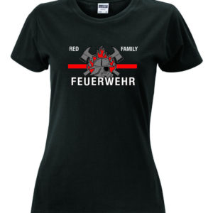 T-Shirt_Damen_Feuerwehr_red_family_thin_red_line_schwarz